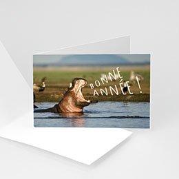 Professionele wenskaarten Nouvel An Hippopotame