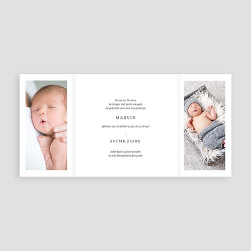 Geboortekaartje meisje - Welcome Baby 68508 thumb