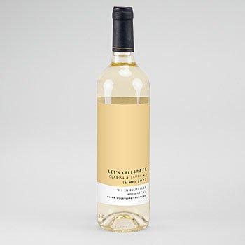 Etiket Voor Wijnfles - Zomers Geel - 0
