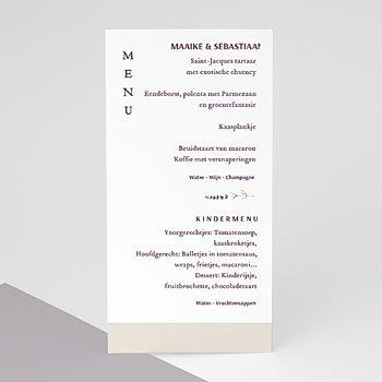 Menukaarten huwelijk - Lavendel - 0