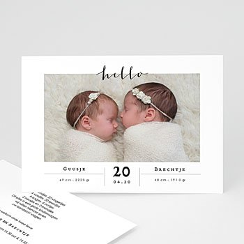 Geboortekaartjes tweelingen - Tweelingen Meisjes - 0