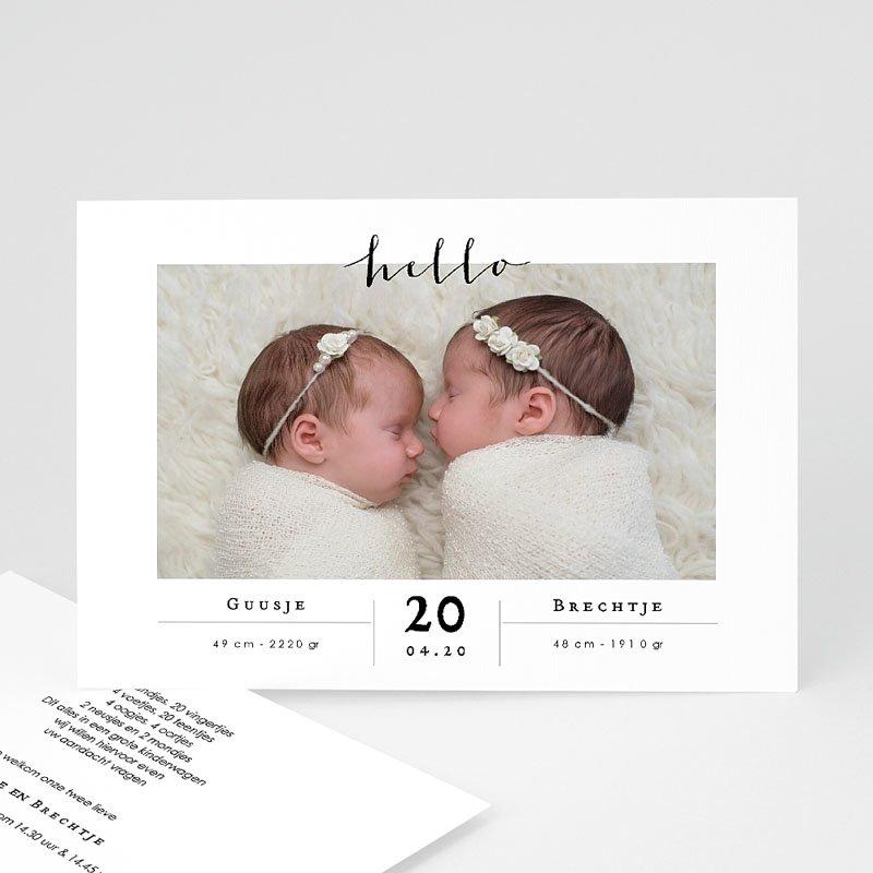 Geboortekaartjes Tweeling Tweelingen Meisjes