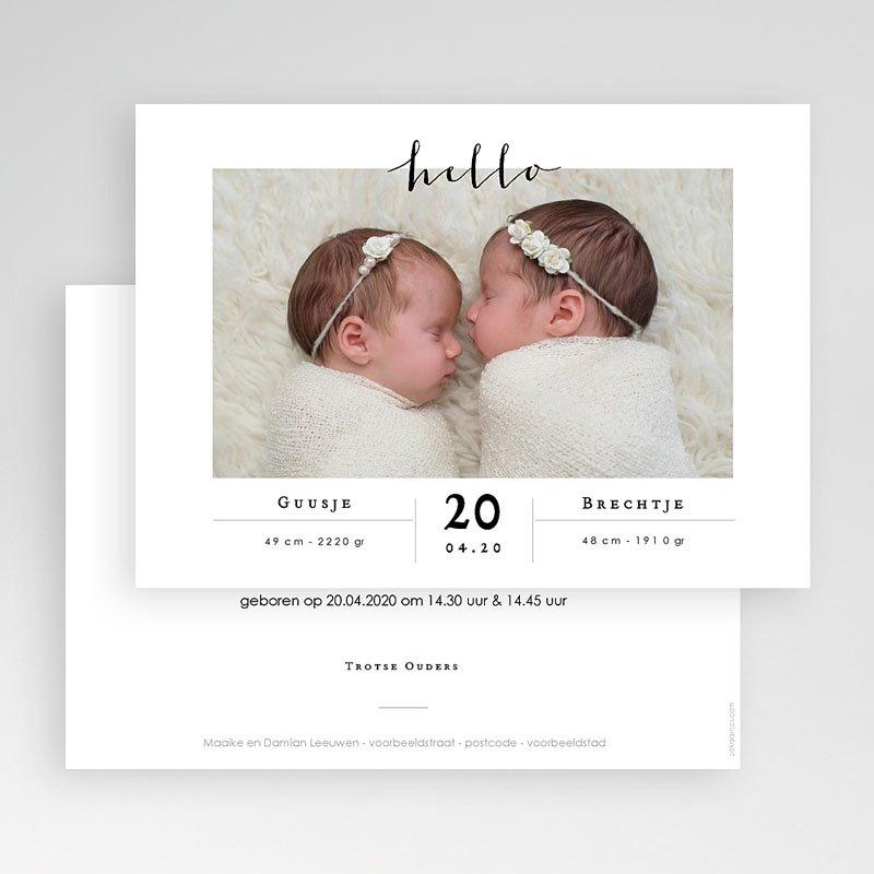 Geboortekaartjes Tweeling Tweelingen Meisjes gratuit
