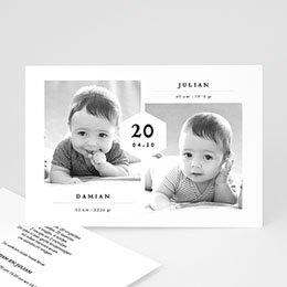 Geboortekaartjes tweelingen Tweelingen Jongens