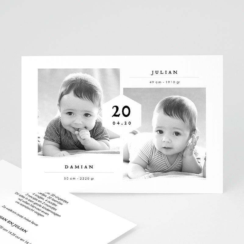 Geboortekaartjes Tweeling Tweelingen Jongens