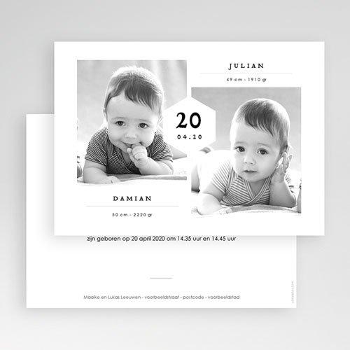 Geboortekaartjes Tweeling Tweelingen Jongens gratuit