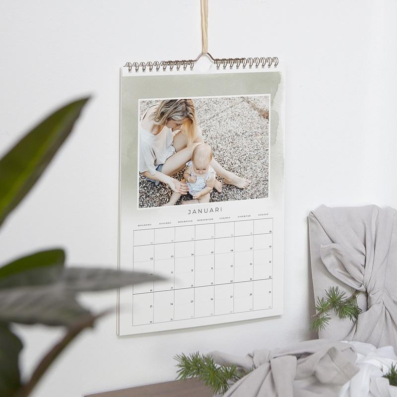 Personaliseerbare kalenders 2019 Aquarel pas cher
