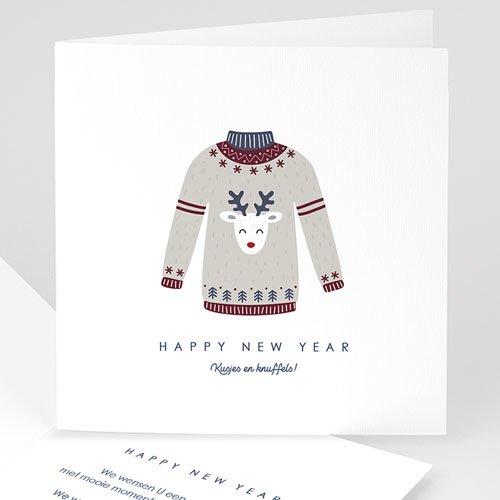 Kerstkaarten 2019 - Rendier wintertrui 69004 thumb