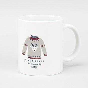 Mok Kerst - Rendier wintertrui - 0