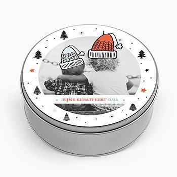 Personaliseerbare blikken doosjes - Gebreide mutsen - 0