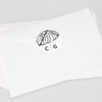 Stickers Huwelijk - Zomers Geel - 0