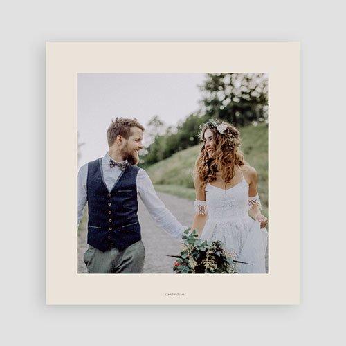 Bedankkaarten huwelijk zonder foto's - Lavendel 69512 thumb