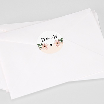 Stickers Huwelijk - Pastel blossoms - 0