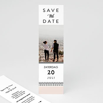 Save the date kaartjes - Krans boho - 0