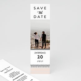 Save the date kaartjes Krans boho