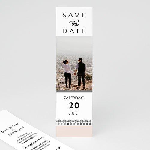 Save The Date Kaartjes Bruiloft Krans boho