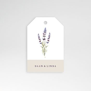 Etiket huwelijk - Lavendel - 0