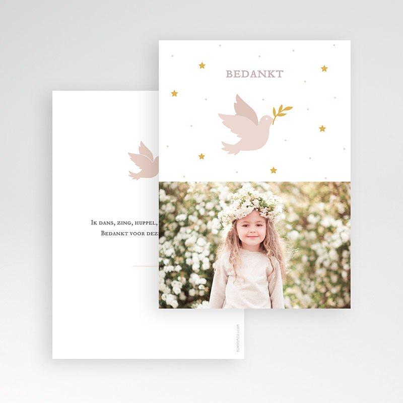 Bedankkaart communie meisje - Holy Spirit Rose 69576 thumb