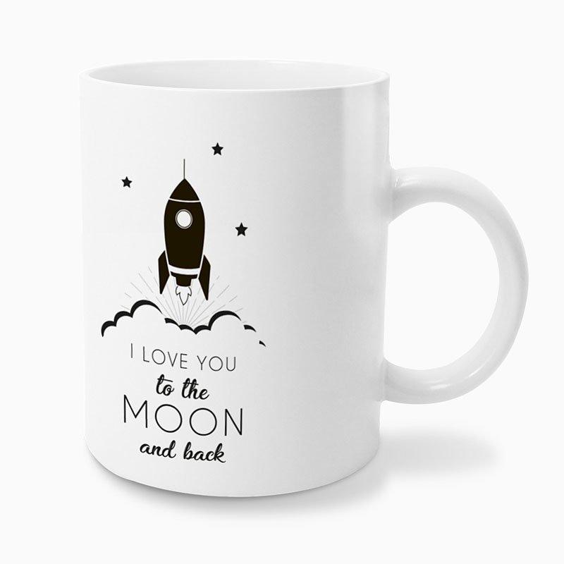 Gepersonaliseerde Fotomokken Vaderdag To the moon