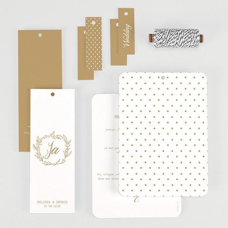 Chique trouwkaarten - Gouden Ja 69827 thumb