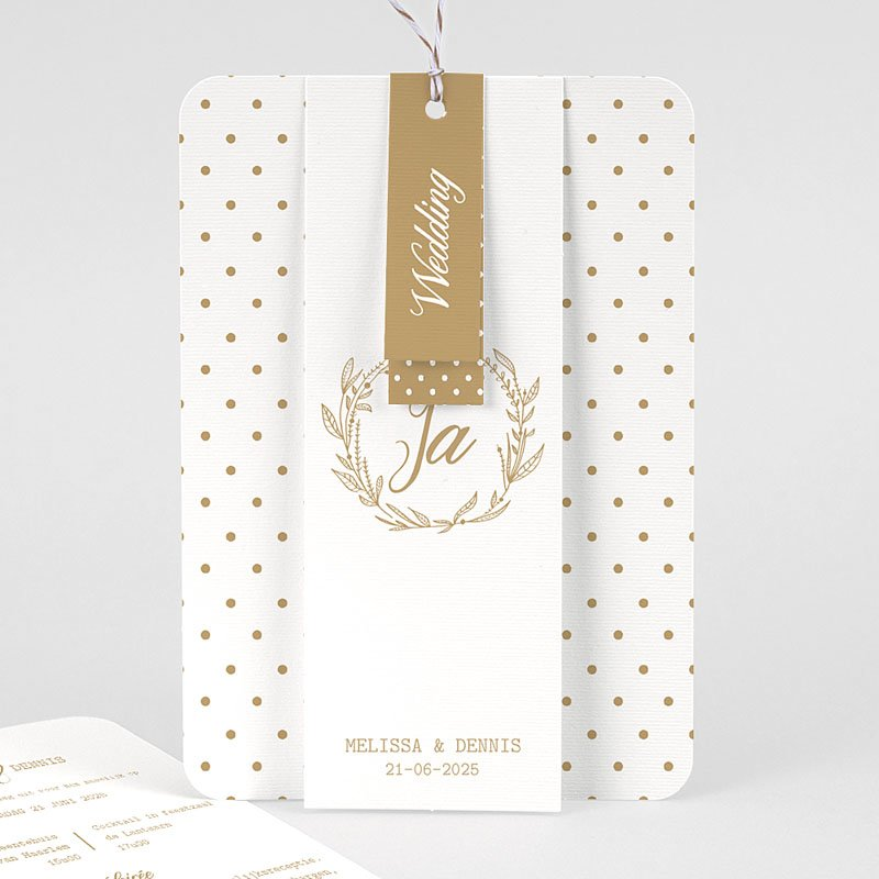 Chique trouwkaarten - Gouden Ja 69828 thumb
