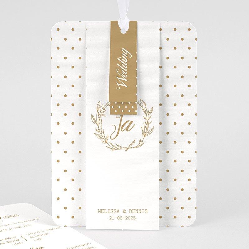 Chique trouwkaarten - Gouden Ja 69829 thumb