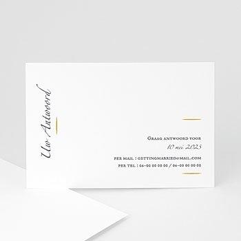 Antwoordkaart-huwelijk Minimal Script