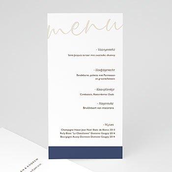 Menukaarten huwelijk - Blue Color Touch - 0