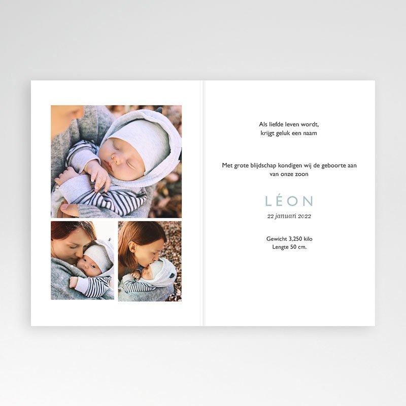 Geboortekaartje jongen - Muisjeshagel jongen 70112 thumb