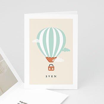 Geboortekaartje jongen - Luchtballon jongen - 0