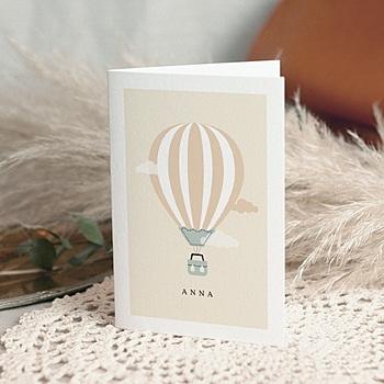 Geboortekaartje meisje - Luchtballon meisje - 0