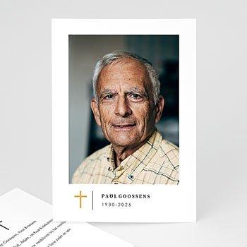 Rouwkaarten - Gouden kruisje - 0