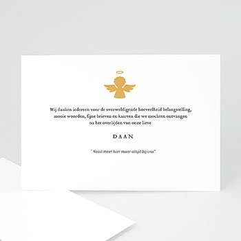 Rouwkaarten - Gouden Engel - 0