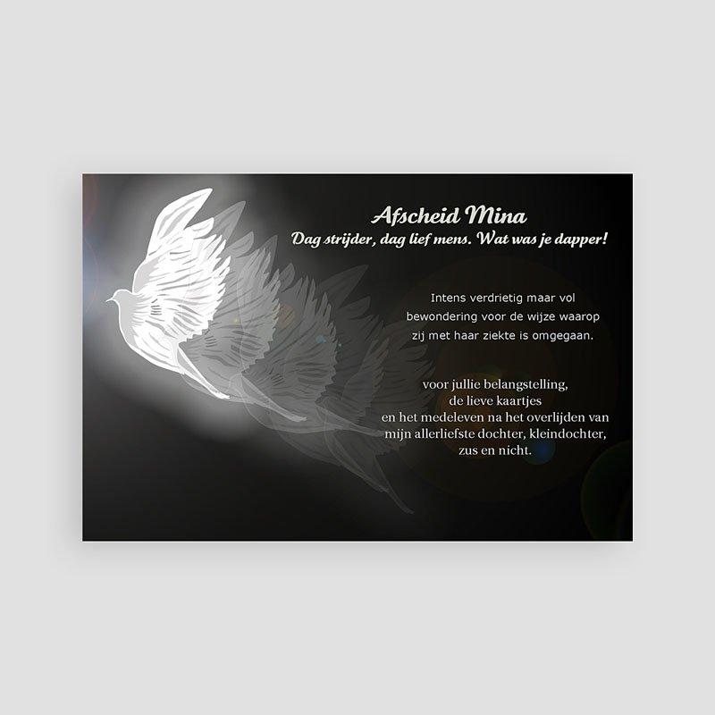Universele Bedankkaartjes Overlijden Nabeelden duif pas cher
