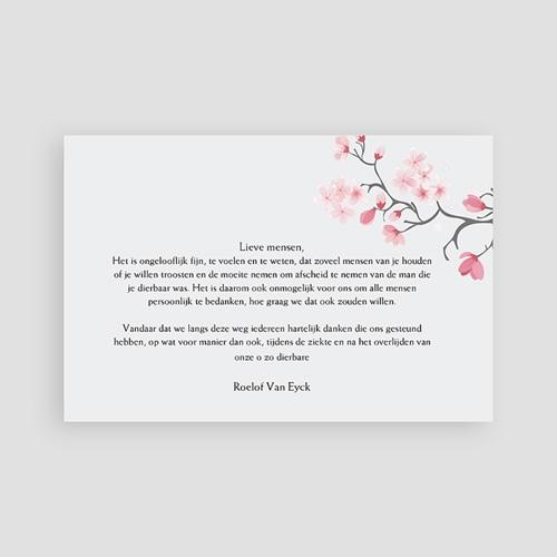 Universele Bedankkaartjes Overlijden Papiervezels rood pas cher