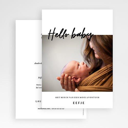 Geboortekaartjes met Foto Hier is ze dan! gratuit