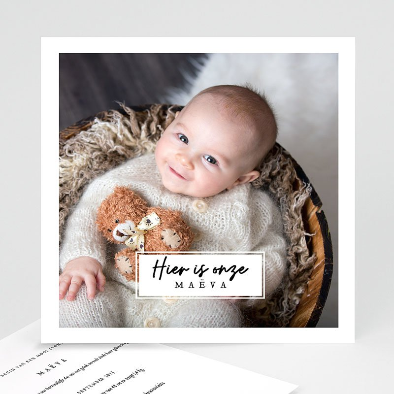 Geboortekaartjes met Foto Onze liefste