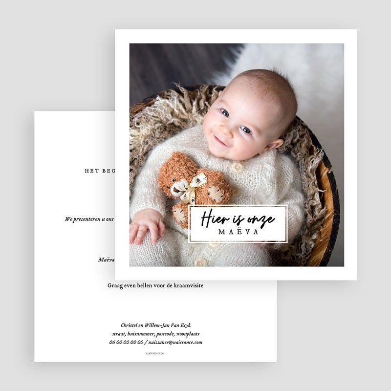 Geboortekaartjes met Foto Onze liefste gratuit