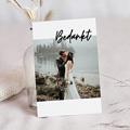 Bedankkaartjes Bruiloft met Foto Mastic Majestic