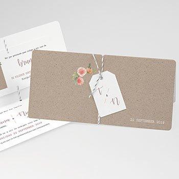 Landelijke trouwkaarten - Krans pioenrozen - 0