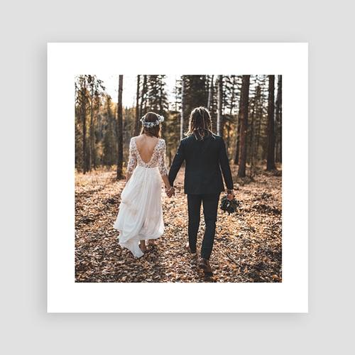 Bedankkaart huwelijk landelijk Close to nature pas cher