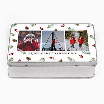 Personaliseerbare blikken doosjes Foto's in het bos