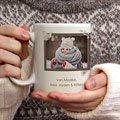 Gepersonaliseerde Fotomokken Kerst Retro Kerst gratuit