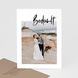 Creatieve bedankkaartjes huwelijk Brush effect
