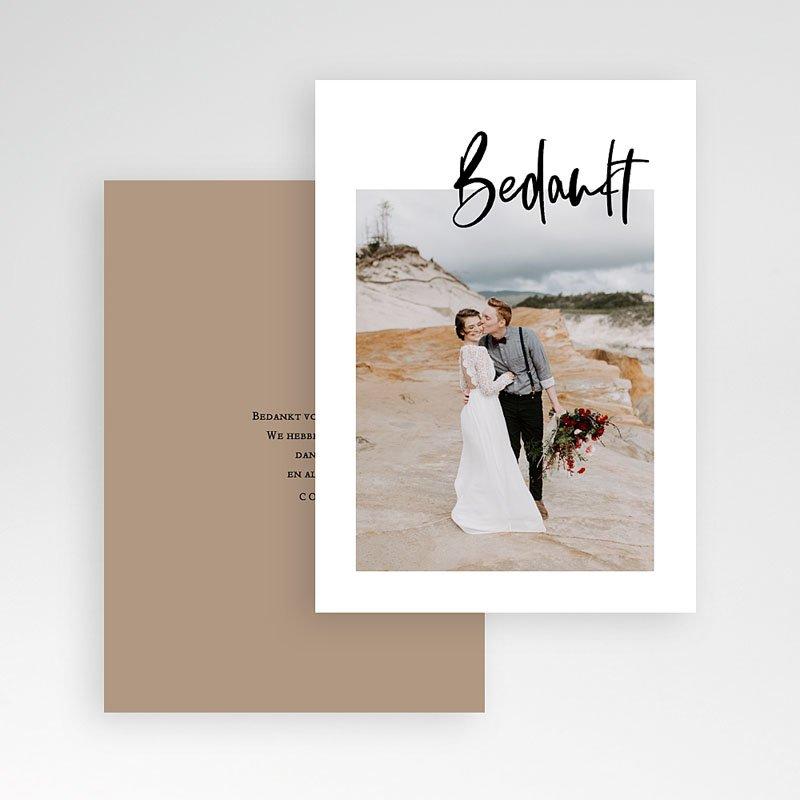 Creatieve bedankkaartjes huwelijk - Brush effect 71246 thumb