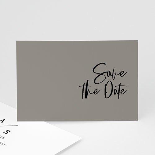 save the date kaartjes - brush effect | zokaartjes