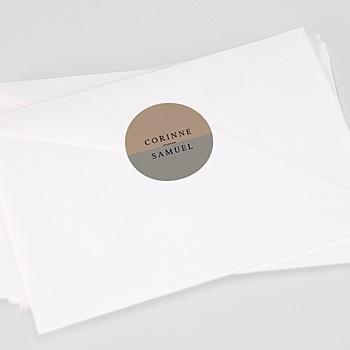 Stickers Huwelijk - Brusch effect - 0