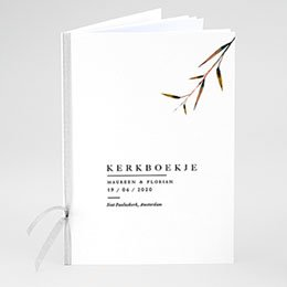 Boekomslag voor kerkboekje Natuur Bruiloft