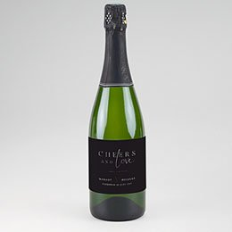 Etiket voor Champagnefles Black Cinnamon