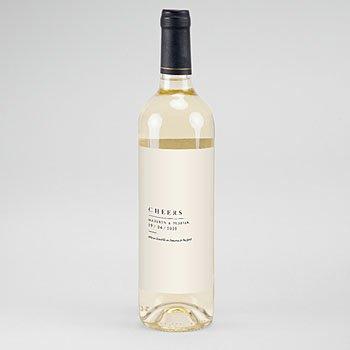 Etiket Voor Wijnfles - Natuur Bruiloft - 0